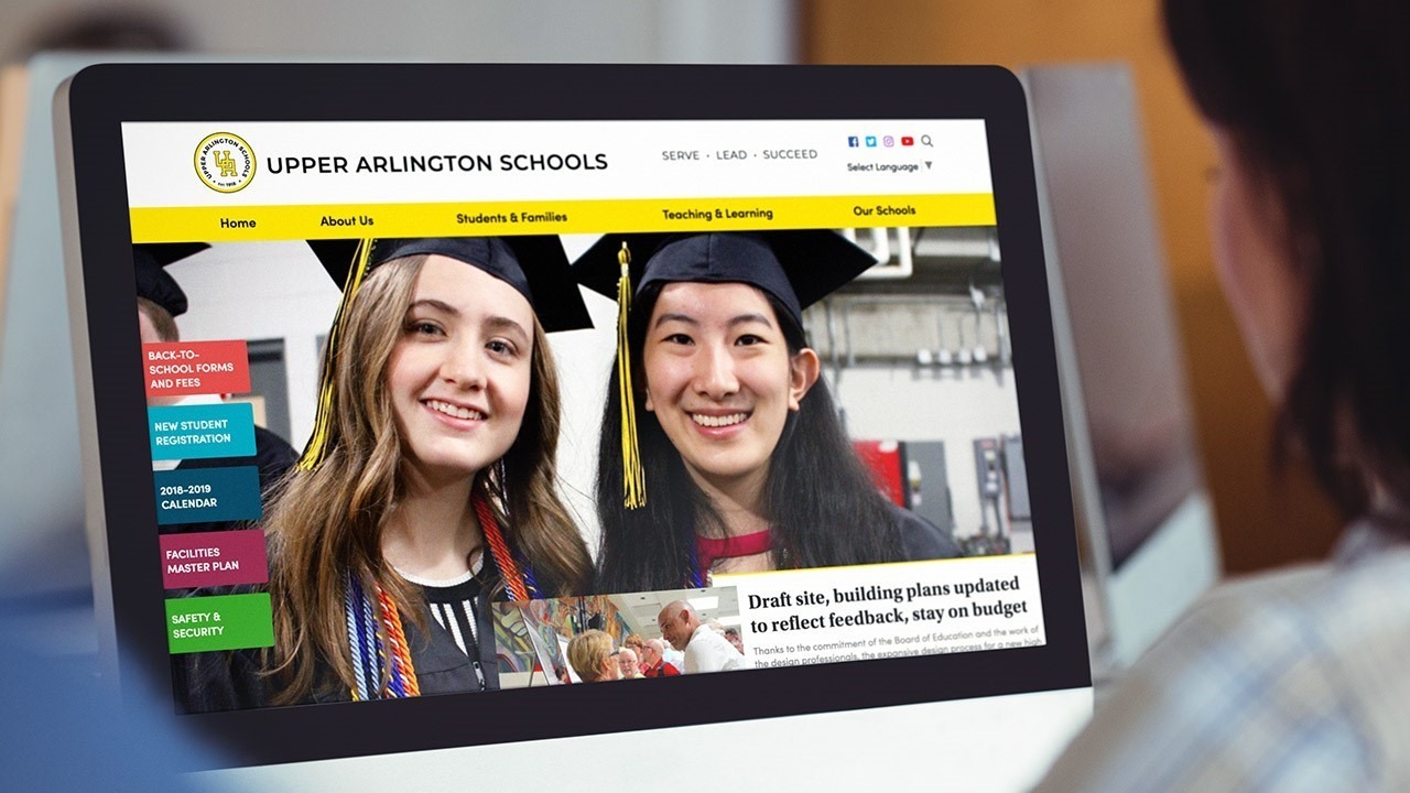 Upper Arlington Schools Website Example Image